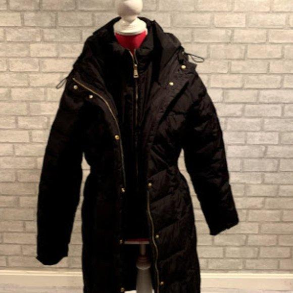 Cole Haan Womens' Black Down Puffer Jacket